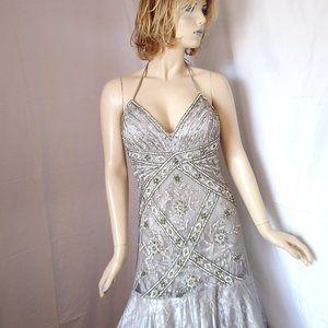 Nwt $498 SUE WONG Platinum Wedding Gown Dress 10